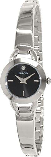 s diamond accent stainless steel bangle bracelet watch,bulova 96p155 women,video review,(VIDEO Review) Bulova 96P155 Women's Diamond Accent Stainless Steel Bangle Bracelet Watch,