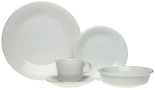 Fiesta 20-Piece, Service for 4 Dinnerware Set, White