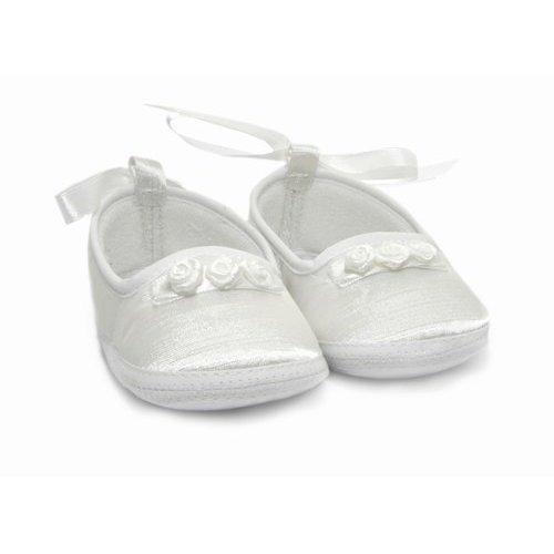 Baby Taufschuhe für Mädchen in weiß mit Schlaufe (besonderer Anlaß)