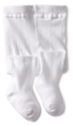 Jefferies-Socks-Baby-girls-Infant-Seamless-Organic-Cotton-Tights-White-6-18-Months