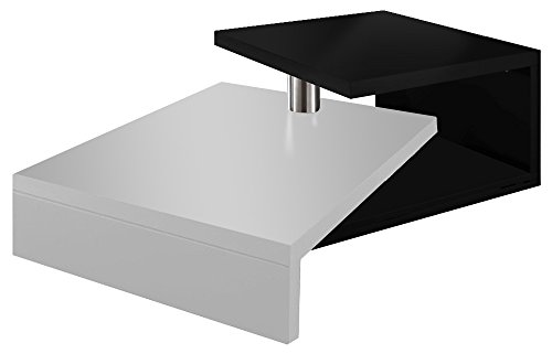regalwelt turny designer coffee table shiny black alpineweiaÿ glanz buy coffee tables online