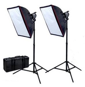 eric9000 cheaper cowboystudio photography double ql1000 adjustment quartz halogen continuous studio light kit with a total 2000 w output including softboxes reflectors and carrying case for video lighting review