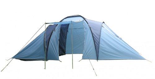 gro es campingzelt zelt mit 2 schlafkabinen bamilienzelt. Black Bedroom Furniture Sets. Home Design Ideas