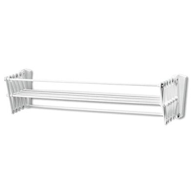 Polder Wall Mount 24 Inch Accordion Clothes Dryer White Folded Up