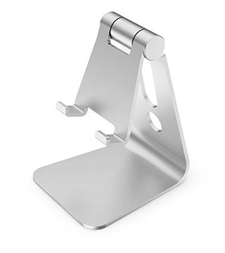 タブレット&携帯電話用スタンド アルミ 角度調整可能 SILVER