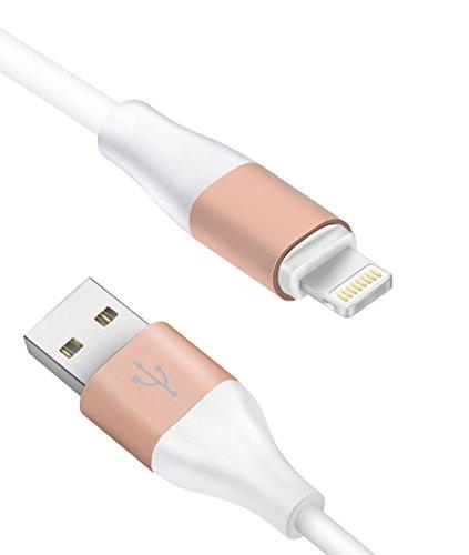 ライトニングケーブル(Zeuste)iphone6/iphone6 plus/iphone5/iphone5s/iphone5c/ipad/ipod対応のlightning usbケーブル ライトニング USB充電ケーブル 8pin ホワイト 1M金