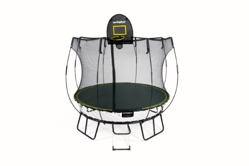 SpringfreeTM Trampoline 8 ft. Compact Round with Safety Enclosure - Combo Package
