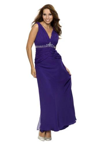 Traumhaftes Abendkleid mit Strass und Perlen, Farbe lila ...