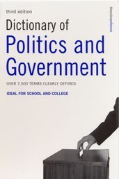 "Cover of ""Dictionary of Politics and Gove..."