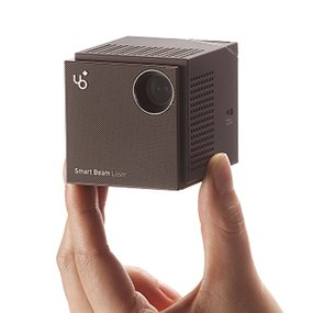 """UO Smart Beam Laser, Focus Free, 150"""", 120min, HD resolution, Wi-Fi, FDA Approved Eye Safe Laser, Original Cube, Portable Projector - Only KDCUSA & Amazon Prime support warranty service"""