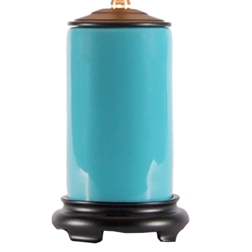 Small Turquoise Blue Porcelain Accent Table Lamp New | eBay