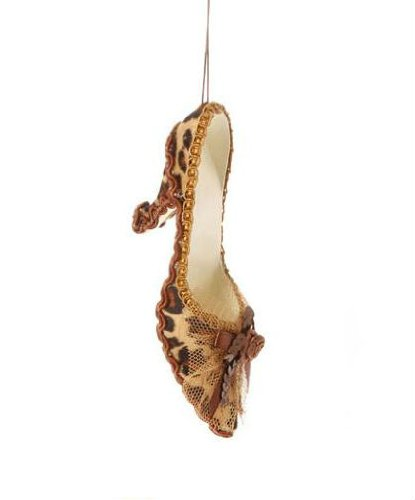 Diva Safari Cheetah Print High Heel Stiletto Shoe Christmas Ornament