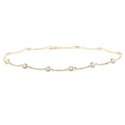 14K-Yellow-Gold-Station-Anklet-With-Cubic-Zirconia-By-The-Yard-9