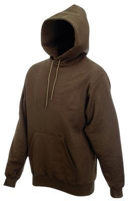 Sweatshirt * Hooded Sweat * Fruit of the Loom Chocolate ( Braun ),L Braun,L