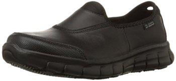 Skechers for Work Women's Sure Track Slip Resistant Shoe,Black,8 M US