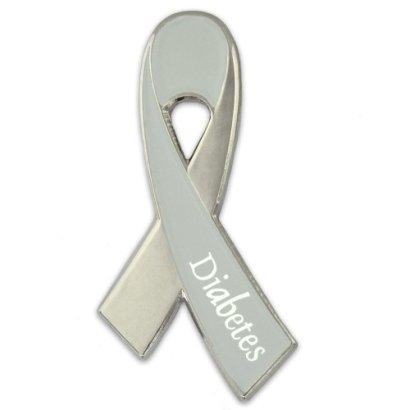 Diabetes-Awareness-Grey-Ribbon-Lapel-Pin