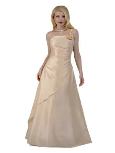 Envie/Paris - 1009 SOPHIA Abendkleid Ballkleid 1-teilig in Creme-Apricot Gr.38-56