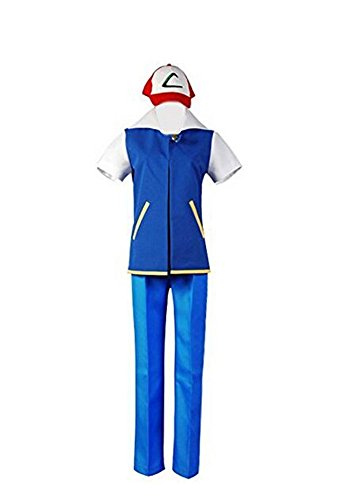 Trust Costume Pokemon Ash Ketchum Cosplay Costume (Male-XL)