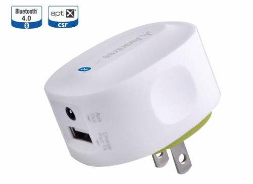 apt-X対応 2デバイス接続可能 Bluetooth 4.0 高音質伝送 レシーバー コンセント差込タイプの為、充電不要
