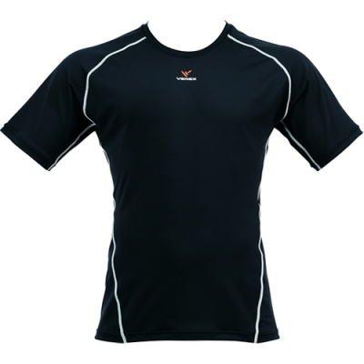 VENEX ベネクス リカバリーウェア コンフォートTシャツ メンズ 6056 ブラック/シルバー M