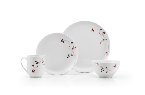 Mikasa Gourmet Basics Red Berries 16 Pc Service For 4