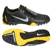 Nike TOTAL90 SHOOT II TF Fußballschuhe, black/metallic silver-vrsty mz, Gr.45 (US11)(UK10)