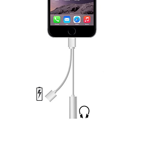 iPhone7 7 Plus ライトニングポート Lightning Port 8pin ライトニングケーブル 3.5mm Audio オーディオ ジャック イヤホン ヘッドホン インタフェース 変換 アダプタ 充電ケーブル