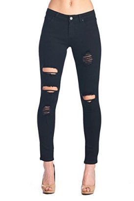 BLUE-AGE-Womens-Black-Destroyed-Ripped-Skinny-Jeans-black5