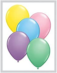Qualatex Biodegradable 11 Inch Helium Quality Pastel Colors Balloon Assortment - MADE IN THE USA - (Package of 100)