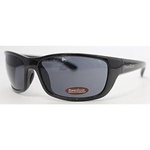 Perry Ellis Sunglasses Crystal Black Plastic Wrap, Smoke Lens PE05-02