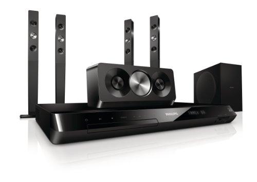 Philips HTS5593/12 5.1 3D-Blu Ray Heimkinosystem (HDMI, Upscaler 1080p, DivX-zertifiziert, Apple iPod-Anschluss, USB 2.0) schwarz