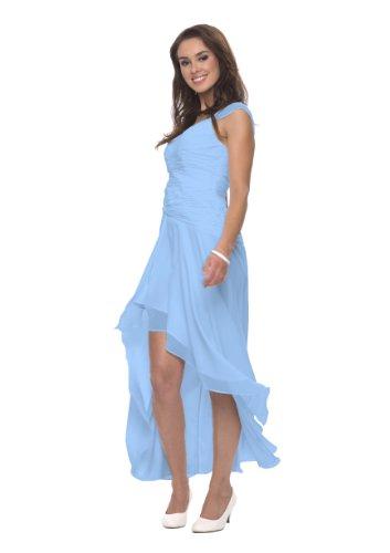 Luxus Abendkleid, Cocktailkleid, Kleid, Farbe hellblau, Gr.38