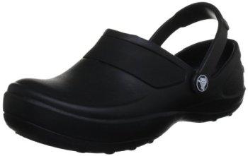 crocs Women's Mercy Clog, Black/Black, 8 M US