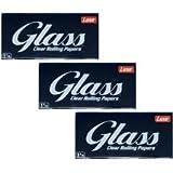Glass Clear Rolling Longpaper 100% Natural 40 Stück Transparente King Size Blättchen zum drehen.