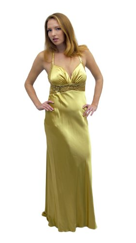 Dave And Johnny Abendkleid Eve Gold Mit Perlen