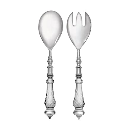 Salad Server Set - Cut Glass Design