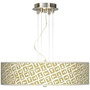 "Tee Tumble 20"" Wide 3-Light Pendant Chandelier"