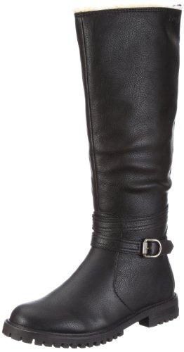 ESPRIT Maddison Fur Boot X10416, Damen Stiefel, Schwarz (black 001), EU 38