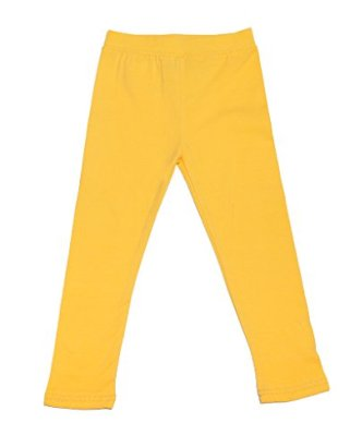 Leveret-Solid-Girls-Legging-Yellow-10-Years