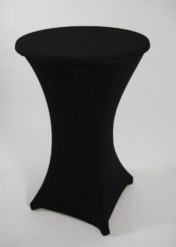 Stretchhussen für Stehtisch bis 70cm, schwarz