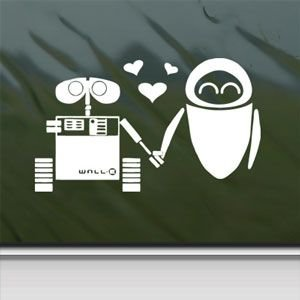 Disney White Sticker Decal Wall E Eve Robot Love White Car Window Wall Macbook Notebook Laptop Sticker Decal