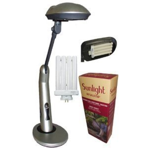 Sunlight Desk Lamp Natural Full Spectrum Sun Light. Simulates Daylight. 150watt Output Uses 27 Watts. Touch On/off Switch