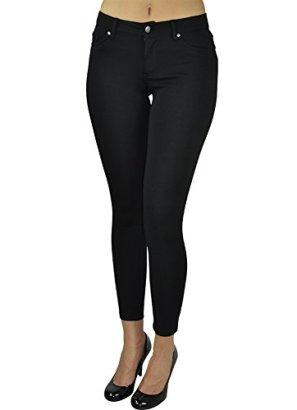 Alfa-Global-Skinny-Dress-Pants-Black-Medium