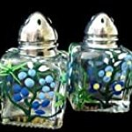 Texas Bluebonnets Design – Hand Painted – Mini Salt & Peppers, .5 oz., Set of 2