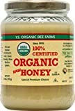 YS Organic Bee Farms CERTIFIED ORGANIC RAW HONEY 100% CERTIFIED ORGANIC HONEY Raw, Unprocessed, Unpasteurized - Kosher 32oz (Pack of 3)