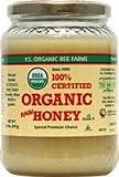 YS Organic Bee Farms CERTIFIED ORGANIC RAW HONEY 100% CERTIFIED ORGANIC HONEY Raw, Unprocessed, Unpasteurized - Kosher 32oz (Pack of 3)