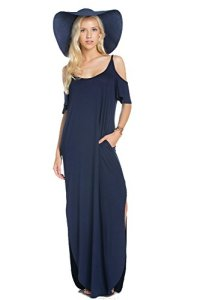My-Space-Clothing-Womens-Jersey-Cold-Shoulder-Maxi-Dress-wPocket-Made-in-USA