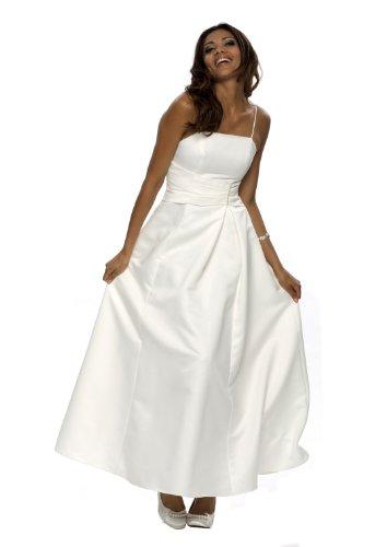 Elegantes langes Abendkleid, Farbe weiß, Gr.38 von Astrapahl