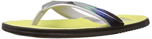 adidas Women's Sc Beach W Light Flash Yellow and Met Silver Flip-Flops and House Slippers - Flip Flops - Plastic Moulded - 5 UK
