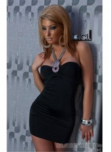 5963 - REDIAL: Neckholder PARTY Minikleid , Schwarz
